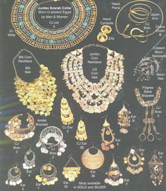 ancient egyptian jewelry - various pcs