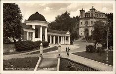 Trinkstelle Rudolfsquelle u. Kath. Kirche Mariánské Lázně Czech Republic