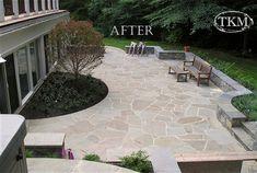 After-Irregular Mortared Stone Patio   Flickr - Photo Sharing!