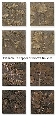 Leaf & Pinecone Sculpted Wall Plaques : Wild Wings