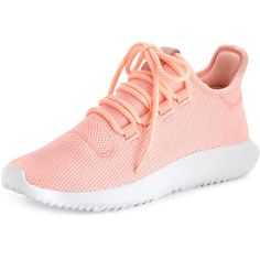 Adidas Tubular Shadow Knit Sneaker (1,770 MXN) ❤ liked on Polyvore featuring shoes, sneakers, adidas, zapatos, pink, lace up flats, pink flats, pink flat shoes, adidas sneakers and flat pumps