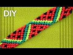 Friendship Bracelet - Watermelon Slices / DIY Tutorial - YouTube