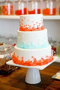 aqua and orange wedding cake brides of adelaide magazine