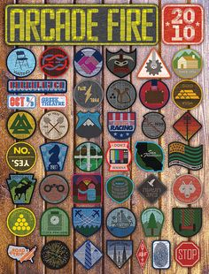 Arcade Fire poster.