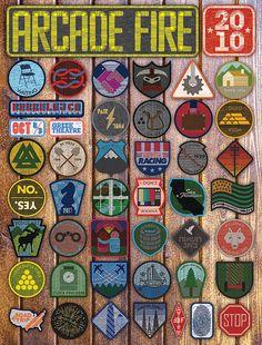 Arcade Fire gig poster