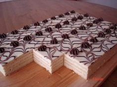 Mozartove rezy Recept is part of Baking sweet Výborný zákusok - Czech Desserts, German Desserts, Top Recipes, Cake Recipes, Dessert Recipes, Oreo Cupcakes, Cake Cookies, Pastry Recipes, Baking Recipes