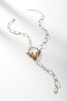 Slide View: 1: Gevin Lariat Necklace