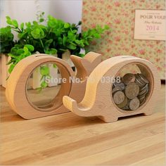 2015 NEW wooden Cartoon Coin Bank Money Saving Box Piggy Bank Kids Gift Saving Money Box Pot Case Piggy Bank Free Shipping