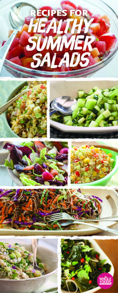 Who said salads had to be boring?! Try these refreshing summer salads.