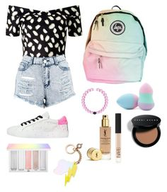 """""""🌈💗"""" by xpipesx ❤ liked on Polyvore featuring Crime, Miss Selfridge, Boohoo, Forever 21, NARS Cosmetics, Bobbi Brown Cosmetics, Celebrate Shop and Sephora Collection"""