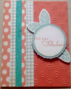 CTMH ZOE Paper Packet. Colors Glacier and Sorbet. Stamp set used C 1619 So Many Smiles Aura Glitter Tape