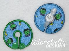 Friendly Frankenstein Blue Gtube Covers Gtube Pads Mic-Key Mickey Button Halloween by AdorabellyDesign on Etsy