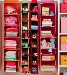 For rooms with no closet....I Think I Canvas Hanging Closet Storage