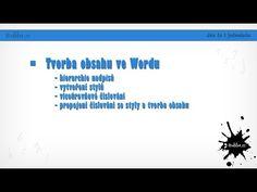 Tvorba obsahu ve wordu - YouTube Windows 10, Mobiles, Youtube, Technology, Mobile Phones, Youtubers, Youtube Movies