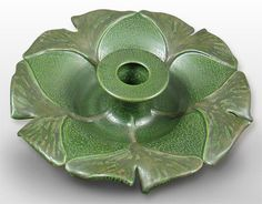 Ephraim Faience Pottery Ginkgo Candle Holder, $83.30