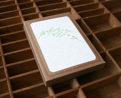 letterpress Betsy Dunlap calligraphy thank you boxed set of cards