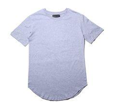 Men's T Shirt Curved Hem Plain Tee
