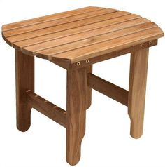 Matching the Douglas Nance Atlantic, Avondale and Lakeside chairs, but a great addition to any Adirondack setting, this side table is made from solid teak. Outdoor End Tables, Outdoor Chairs, Outdoor Decor, Patio Tables, Side Tables, Outdoor Ideas, Teak Furniture, Outdoor Furniture, Western Furniture