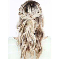 5-Minute Hairstyles for Medium-Length Hair ❤ liked on Polyvore featuring beauty products, haircare and hair styling tools