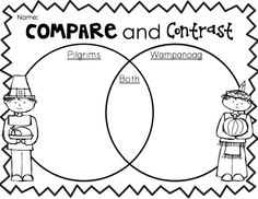 Worksheet Compare And Contrast Worksheets 4th Grade compare and contrast thanksgiving on pinterest contrast