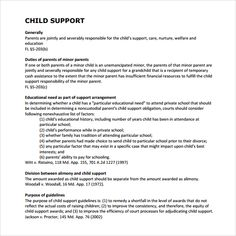 Child Support Agreement Template Copaing Letter Format Sample Custody Templates