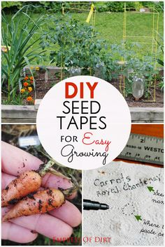 Smart tip for tiny garden seeds that get washed away in the rain: make your own seed tapes. These hold the seeds in place, right where you've sown them, until they've sprouted and can root in  the soil. #spon