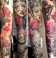Tattoo Artist - Ellen Westholm | www.worldtattoogallery.com/sleeve_tattoos