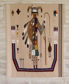 3033 Pete Gilmore Sandpainting Navajo Weaving