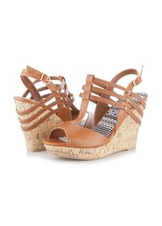 Ashley Stewart Web Exclusive Peep Toe Straw Wedge Sandals