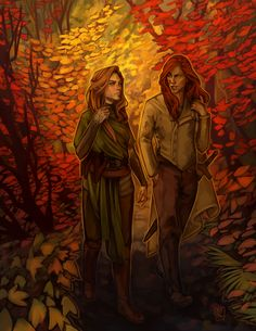 Patches Draws • Walking through the woods of the Autumn Court felt...