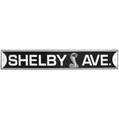 Shelby Avenue Embossed Tin Sign⎜Open Road Brands