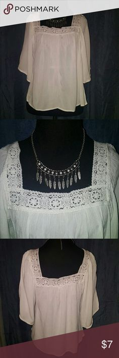 White Blouse White blouse Size XS Embroidered collar Tops Blouses