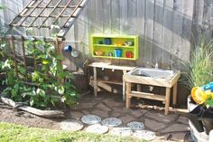 If you are looking for Outdoor Kids Kitchen, You come to the right place. Here are the Outdoor Kids Kitchen. This post about Outdoor Kids Kitchen was posted under the. Outdoor Play Spaces, Kids Outdoor Play, Kids Play Area, Backyard For Kids, Garden Kids, Outdoor Kitchens, Kids Fun, Outdoor Learning, Backyard Patio