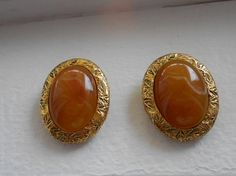 Earrings Classic stone and metal Liz Claiborne by notdomesticated, $24.00