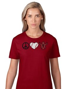 Peace Love AV Baseball www.sparklytees.com/store