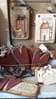 Farmhouse Christmas Decor The. Rustic Crafts, Country Crafts, Primitive Crafts, Primitive Christmas, Country Primitive, Country Decor, Handmade Crafts, Decor Crafts, Home Crafts