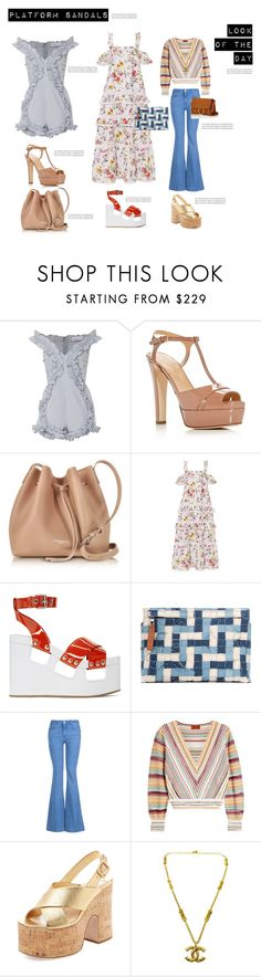 """""""Tuesday, look of the day: Platform Sandals"""" by beautymanifesting ❤ liked on Polyvore featuring Alice McCall, Sergio Rossi, Lancaster, Nicholas, Miu Miu, Loewe, STELLA McCARTNEY, Missoni and Chloé"""