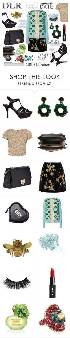 """""""DLRBOUTIQUE.COM"""" by akchen ❤ liked on Polyvore featuring Yves Saint Laurent, Alice + Olivia, Jimmy Choo, Topshop Unique, Salvatore Ferragamo, Orla Kiely, Bare Escentuals, Coach and Gucci"""
