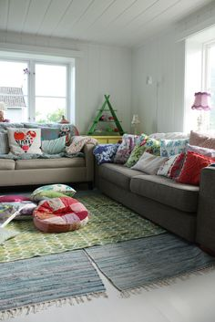 Colourful pillows