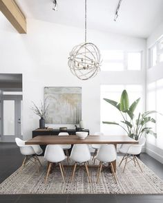 Gorgeous 30 Modern Minimalist Dining Room Design Ideas for Comfortable Dinner Wi. - - Gorgeous 30 Modern Minimalist Dining Room Design Ideas for Comfortable Dinner With Your Family – DECOOR Living Room Interior, Living Room Decor, Apartment Interior, White Apartment, Interior Livingroom, Apartment Living, Living Area, Living Rooms, Minimalist Dining Room