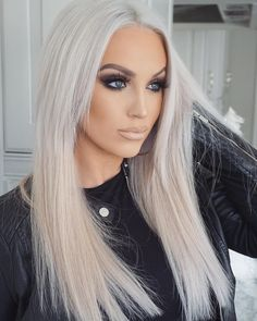 Icy Blonde Clip In Hair Extensions 26 Double Weft Remy Human Hair Weave Cool Blonde Miss Remy Hair Extensions Blonde Ombre Bob, Blonde Dye, Icy Blonde, Cool Blonde, Platinum Blonde Hair, Blonde Beauty, Hair Beauty, White Blonde, Brassy Blonde