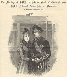 Queen Marie of Romania / The Graphic, January 1893 Romanian Royal Family, Queen V, Ferdinand, January 21, Royalty, Descendants, Edinburgh, Country, Painting