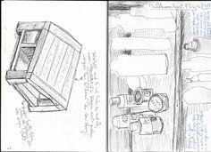 Inspired by art before breakfast - more pen drawings