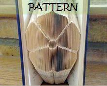 Book folding Pattern: English Rose design by TheFoldedBookCompany