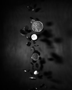 Make some kickass shutter speed variations of falling coins