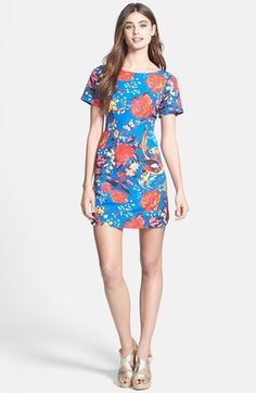 Plenty by Tracy Reese 'Frankie' Print Faille Shift Dress available at #Nordstrom