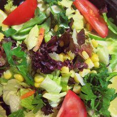 a colorful salad