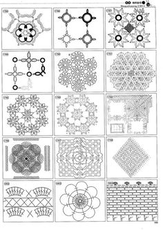 Bildergebnis für mandalas tejidas a crochet patrones Mandala Au Crochet, Crochet Motif Patterns, Crochet Circles, Crochet Blocks, Square Patterns, Crochet Chart, Crochet Squares, Thread Crochet, Crochet Granny