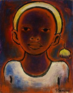 Gerard Sekoto, Head of a Girl with pompon Gerard Sekoto, South Africa Art, South African Artists, African American Art, Top Artists, Black Art, Art And Architecture, Sculpture Art, Original Artwork