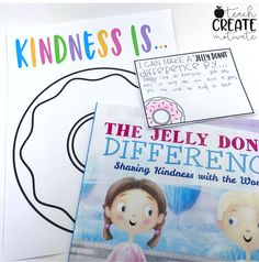 I just love all the books Maria Dismondy writes and this book is no different! The Jelly Donut Difference is no different! A book that teaches how to be kind is always a winner to me! She has a fantas